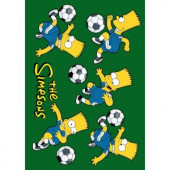 Fun Rugs The Simpsons Soccer Fun Multi Colored 19 in. x 29 in. Accent Rug