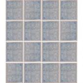 EPOCH Oceanz Arctic Blue-1726 Crackled Glass Mesh Mounted Tile - 4 in. x 4 in. Tile Sample