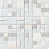 EPOCH No Ka 'Oi Kapalua-Ka420 Stone And Glass Blend Mesh Mounted Floor & Wall Tile - 4 in. x 4 in. Tile Sample