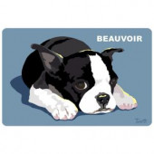 Bungalow Flooring Printed Boston Terrier 35 17.5 in. x 26.5 in. Mat