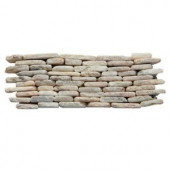 Solistone Standing Pebbles Tesserat 4 in. x 12 in. Stone Pebble Mosaic Marble Wall Tile (5 sq. ft. / case)