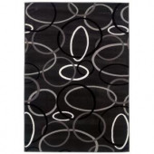 LR Resources Contemporary Charcoal Runner 1 ft. 10 in. x 3 ft. 1 in. Plush Indoor Area Rug