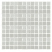 EPOCH Irridecentz I-Off White-1413 Mosiac Recycled Glass Mesh Mounted Tile - 4 in. x 4 in. Tile Sample