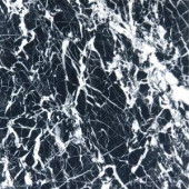 MS International Nero 12 in. x 12 in. Marquina Marble Floor and Wall Tile