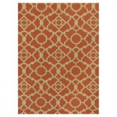 Kas Rugs Chateau Red/Beige 3 ft. 3 in. x 5 ft. 3 in. Area Rug