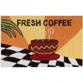 Fresh Coffee Orange 1 ft. 6 in. x 2 ft. 6 in. Area Rug