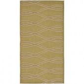 Safavieh Courtyard Green/Creme 2.6 ft. x 5 ft. Area Rug