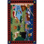 LA Rug Inc. Olive Kids Camp Fire Friends Multi Colored 19 in. x 29 in. Area Rug