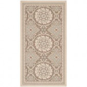 Safavieh Courtyard Beige/Dark Beige 4 ft. x 5.6 ft. Area Rug