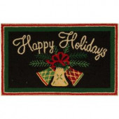 Nourison Happy Holiday Bells Black 1 ft. 6 in. x 2 ft. 6 in. Accent Rug