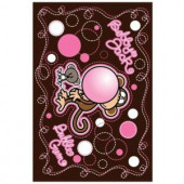 LA Rug Inc. Bobby Jack Don't Burst My Bubble Multi Colored 19 in. x 29 in. Accent Rug
