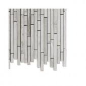 Splashback Tile Windsor Random Wooden Beige Marble Floor and Wall Tile - 6 in. x 6 in. Tile Sample