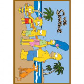 Fun Rugs The Simpsons At The Beach Multi Colored 19 in. x 29 in. Accent Rug