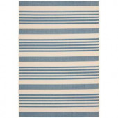 Safavieh Courtyard Beige/Blue 4 ft. x 5.6 ft. Area Rug