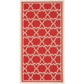 Safavieh Courtyard Red/Bone 2 ft. x 3.6 ft. Area Rug