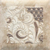 Daltile Del Monoco Carmina Beige 6-1/2 in. x 6-1/2 in. Glazed Porcelain Decorative Floor and Wall Tile