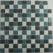EPOCH Cloudz Altostratus-1430 Mosaic Glass Mesh Mounted Tile - 4 in. x 4 in. Tile Sample