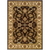 LR Resources Traditional Brown and Cream 1 ft. 10 in. x 3 ft. 1 in. Plush Indoor Area Rug