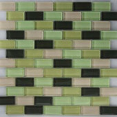 EPOCH Riverz Nile Mosaic Glass 1X2 Mesh Mounted Tile - 4 in. x 4 in. Tile Sample