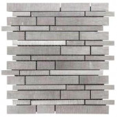 Jeffrey Court 12 in. x 12 in. Silver Chain Metal Mosaic Wall Tile