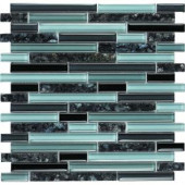 EPOCH Spectrum Blue Pearl-1662 Granite And Glass Blend Mesh Mounted Floor & Wall Tile - 4 in. x 4 in. Tile Sample
