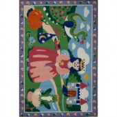 LA Rug Inc. Olive Kids Happily Ever After Multi Colored 19 in. x 29 in. Accent Rug