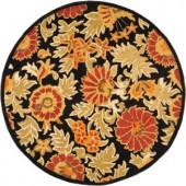 Safavieh Blossom Black/Multi 6 ft. x 6 ft. Round Area Rug