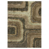 Kas Rugs Shag Finesse 15 Slate/Brown 3 ft. 3 in. x 5 ft. 3 in. Area Rug