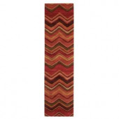 Home Decorators Collection Cheveron Red 2 ft. 6 in. x 10 ft. Runner