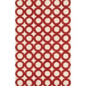 Loloi Rugs Weston Lifestyle Collection Ivory Red 3 ft. 6 in. x 5 ft. 6 in. Area Rug