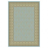 Kas Rugs Sleek Tradition Blue/Ivory 3 ft. 3 in. x 4 ft. 7 in. Area Rug