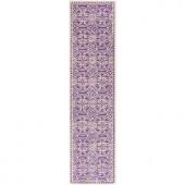 Safavieh Cambridge Purple/Ivory 2 ft. 6 in. x 4 ft. Runner
