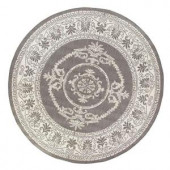 Home Decorators Collection Antique Medallion Grey/White 8 ft. 6 in. Round Area Rug