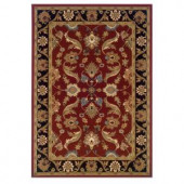 LR Resources Traditional Design with Red and Black swirls. It is 7 ft. 9 in. x 9 ft. 9 in. and it is a Plush Indoor Area Rug