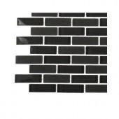Splashback Tile Contempo Smoke Gray Brick Glass - 6 in. x 6 in. Tile Sample