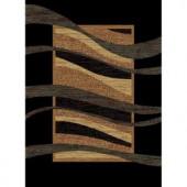 United Weavers Swinger Black 5 ft. 3 in. x 7 ft. 2 in. Area Rug