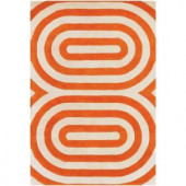 Chandra Thomaspaul Orange/Cream 3 ft. x 5 ft. Indoor Area Rug