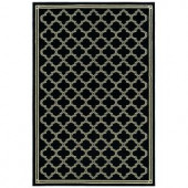 Natco Stratford Garden Gate Black 5 ft. x 7 ft. 7 in. Area Rug