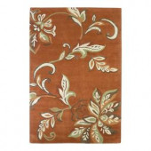 Kas Rugs Textured Bouquet Spice 3 ft. 6 in. x 5 ft. 6 in. Area Rug