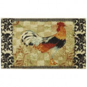 Mohawk Bergerac Rooster Neutral 30 in. x 46 in. Accent Kitchen Rug