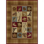 Tayse Rugs Nature Beige 5 ft. 3 in. x 7 ft. 3 in. Lodge Area Rug