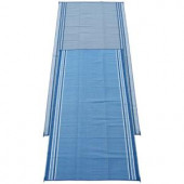 Fireside Patio Mats Hawaiian Blue 9 ft. x 18 ft. Polypropylene Indoor/Outdoor Reversible Patio/RV Mat