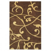 Home Decorators Collection Perpetual Brown 8 ft. x 11 ft. Area Rug