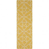 Artistic Weavers Bolivar Sunshine Yellow 2 ft. 6 in. x 8 ft. Flatweave Runner