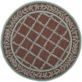 Safavieh Chelsea Brown/Blue 4 ft. x 4 ft. Round Area Rug