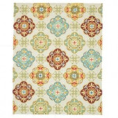 Loloi Rugs Olivia Life Style Collection Ivory Sage 7 ft. 6 in. x 9 ft. 6 in. Area Rug