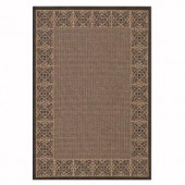 Home Decorators Collection Summer Chimes Cocoa and Black 8 ft. 6 in. x 13 ft. Area Rug