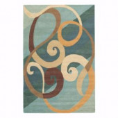 Home Decorators Collection Hypnotic Blue 9 ft. 6 in. x 13 ft. 6 in. Area Rug