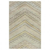 Kas Rugs Moroccan Chevron Cream/Brown 3 ft. 3 in. x 5 ft. 3 in. Area Rug