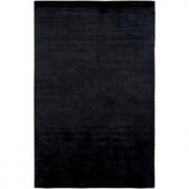 LR Resources Satori Black 5 ft. x 7 ft. 9 in. Plush Indoor Area Rug